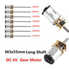 DC 6V 30-400RPM long shaft 1*Mini Micro Metal Gear Motor Reduction Gearmotor Kit