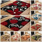 BEAUTIFUL FLORAL MODERN MULTI COLOUR HIGH QUALITY RUGS THICK SOFT RUGS & RUNNERS