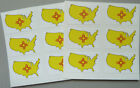 Mini Sticker Pack , Self-Stick US State Self-Adhesive Flag Labels