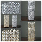 "2 pcs 16"" tall Faux Crystal Beaded Candle Holder Centerpieces Wedding WHOLESALE"