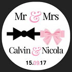 PERSONALISED GLOSSY  WEDDING,FAVOUR , SAVE THE DATE MR& MRS THANK YOU STICKERS