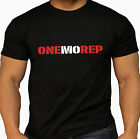 Men's One More Rep Weightlifter Train Workout Kettlebell Gym wear Black T Shirt
