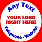 PERSONALISED ADD YOUR OWN LOGO GLOSS STICKERS , LABELS SEALS