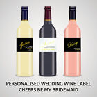 PERSONALISED BRIDESMAID WINE LABEL, SPIRIT OR BEER - WILL YOU BE MY BRIDESMAID..