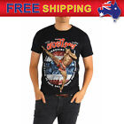 AU Men T-shirt Muay Thai MMA Kick Boxing High Kick Fighter Cotton Tee Size S-XL