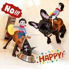 Funny Pet Dog Costume Cowboy Riding Horse Halloween Fancy Dress Up Clothes SH