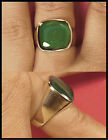 Mood Ring Sterling Silver Mens Large Rounded Square