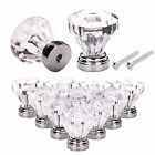 25mm 4/8/16 Pcs Clear Plastic Small Door Knobs Drawer Cabinet Kitchen Handle UK