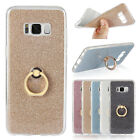 Glitter Gradient Stand Ring Soft Silicone TPU Phone Case Back Cover For Samsung
