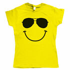 Smiley Face Sunglasses DJ Festival Womens Funny T Shirt