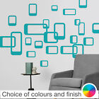 Retro Squares Rectangle Wall Sticker Home Decor Bedroom Kitchen Decal