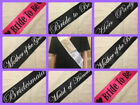 Hen Party Sash Sashes Hen Night Party Do Accessories Bride to be Bridesmaid