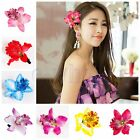 Wedding Bridal Flower Bohemia Orchid Hair Clip Hairpin Barrette Accessories WS