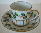 A FINE VINTAGE HAND PAINTED FRENCH PORCELAIN MOCKA CUP & SAUCER BY SEVRE