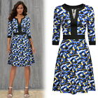 Women Geometric Print Casual Sexy Clubwear Cocktail Party Night Out A-Line dress