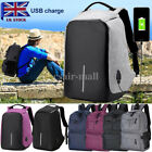 2017 Anti-Theft Backpack Fashion USB Port Charger Multifuction Travel School Bag