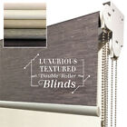 LUXURIOUS TEXTURED Customised Day/Night  Roller Blinds 60-210cm (W)x 210cm (D)