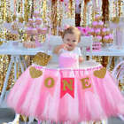 1st Birthday High Chairs Flag Banner Baby Boy Girl One year Old Party Celebrate