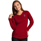 Boston Red Sox Antigua Embroidered Red Heather Flip Long Sleeve T-Shirt