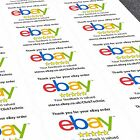 Personalised eBay Sticker eBay Labels Thank You For Your Order Stickers Printing