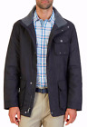 Nautica MENS Navy Water-Resistant Multi-Pocket Parka Jacket Coat NEW