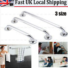 UK STAINLESS STEEL DISABILITY GRAB RAIL SUPPORT HANDLE BAR BATHROOM SAFETY AID