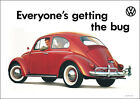 VW Beetle Blue Classic Advertising Showroom 1970's Car Picture Poster Print A1