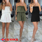 UK Sexy Womens Holiday Casual Mini Playsuit Ladies Jumpsuit Summer Beach Dress