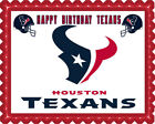 Houston Texans - Edible Cake Topper or Cupcake Topper $16.95 USD on eBay