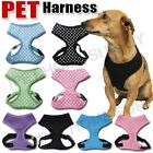 Personalised Embroidered Pet Dog Cat Puppy Soft Leash VEST Mesh Breathe Harness