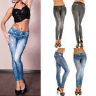 Fashion Women Sexy Jean Skinny Jeggings Stretchy Slim Leggings Skinny Pants Blue