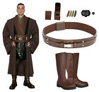 Star Wars Costume Bundle - Anakin Tunic, Brown Jedi Robe, Belt, Boots+ from UK $383.42 AUD