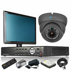 1 x Varifocal Camera Full D1 4 CH DVR CCTV System iPhone Viewing with Monitor 3G