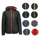 Mens Puffer Jacket Coat Hooded Outerwear Water Proof Zipper Feather Insulated