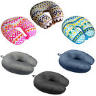 Ultralight Micro Beads U Neck Pillow Travel Head Cervical Support Cushion Pad