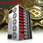 Crypto Coin Open Air Mining Frame Rig Graphics Case 10-12 GPU ETH BTC Lot KE