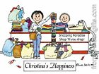 PERSONALIZED CUSTOM CARTOON PRINT - SHOPPER - GREAT GIFT IDEA! FREE S/H