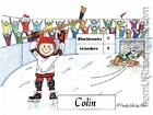 PERSONALIZED CUSTOM CARTOON PRINT - HOCKEY - GREAT GIFT IDEA! FREE S/H