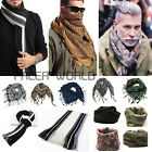 Men Striped Camouflage Scarf Soft Army Shawl Wrap Vintage Winter Stole Sscarves