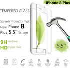 9H Premium Tempered Glass Screen Protector for iPhone 8 Plus iPhone 7 Plus Lot