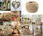 75m - 300m Natural Brown Jute Thread Rustic Twin String Hemp Rope Cord Garden