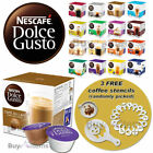Nescafe Dolce Gusto Coffee Capsules - 3 Boxes x 16 Pods + 3 FREE Coffee Stencils