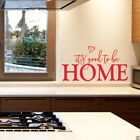 it's good to be Home Vinyl Wall Decal - fits living room, kitchen  and more L227