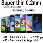 TEMPERED GLASS SCREEN PROTECTOR LCD Samsung Smartphones case S2 S3 S4 S5 S6 S8