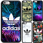 iPhone X 8 8 Plus 7 6 6s SE 5s 5c 5 Rubber Print Case Skin Adidas Logo For Apple