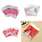 100 x Self Adhesive Christmas Cookie Candy Package Gift Bags Cellophane Party