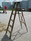 Vintage Wooden 6 Step Ladders for Decorating - Decorative Home Decor