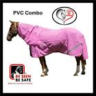 LOVE MY HORSE 5'0 - 6'3 PVC Mesh Turnout Reflective Summer Combo Horse Rug Pink