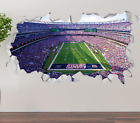 New York Giants Stadium Wall Decal 3D Smashed Sticker Mural NFL Decor OP228 on eBay