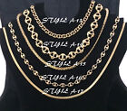 NEW GOLDTONE CHAIN NECKLACE COSTUME JEWELRY - CHOOSE YOUR STYLE/LENGTH (3)